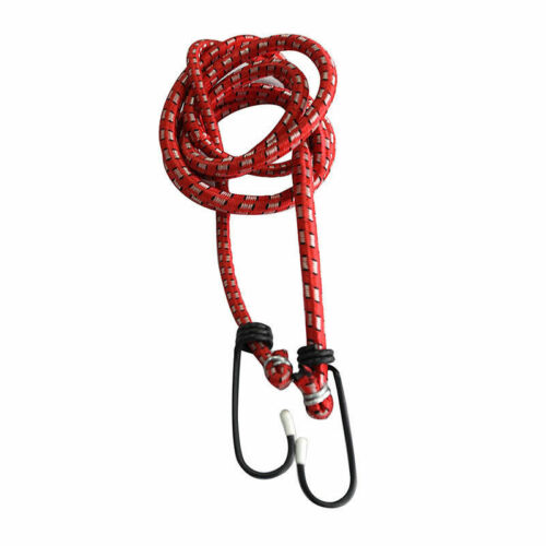 Elastic Bungee Cords Hooks Bikes Rope Tie Luggage Car Strap Roof Rack Fad GX