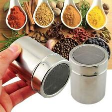 Stainless Chocolate Fine Mesh Sifter Shaker Dredge Icing Sugar Powder Cocoa Flou