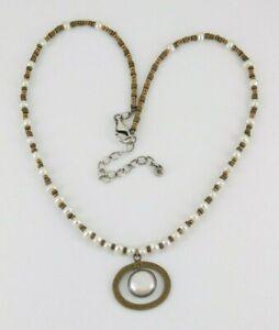 Silpada-925-Sterling-Silver-amp-Brass-Pearl-Go-Coastal-Necklace-N1894
