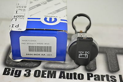 Chrysler 300 Dodge Charger Rear Power Outlet Cap Cover Black new OEM 56046636AA