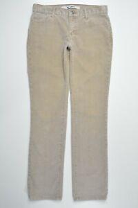 Gap-Size-4-Womens-TAN-CORDUROY-Slim-Fit-Straight-Leg-LOW-RISE-Stretch-Pants