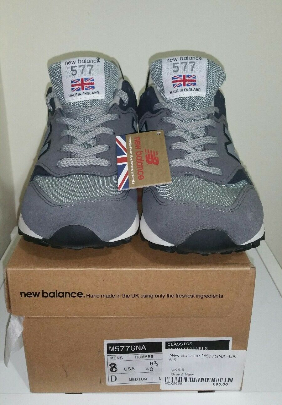 New Balance M577GNA Men's English Tender Grey. MADE IN UK
