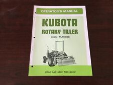 Kubota Fl1520c Rotary Tiller Operators Manual