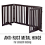 thumbnail 9 - Pet Gate Step Over Dog Gate Freestanding Assembly-Free Puppy Foldable Fence New