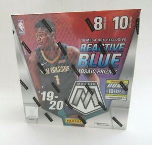 Factory-Sealed-Panini-NBA-Basketball-Mosaic-Mega-Box-2019-20-Reactive-Blue