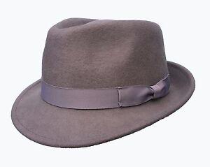 Borsalino-tipo-Fedora-Gris-100-Gorro-de-lana
