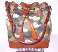 Dooney & Bourke Pvc Green Camouflage Duck Drawstring Shoulder Bag $318