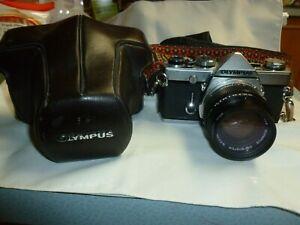 Vintage OLYMPUS OM-1 Camera, Lenses, & Case