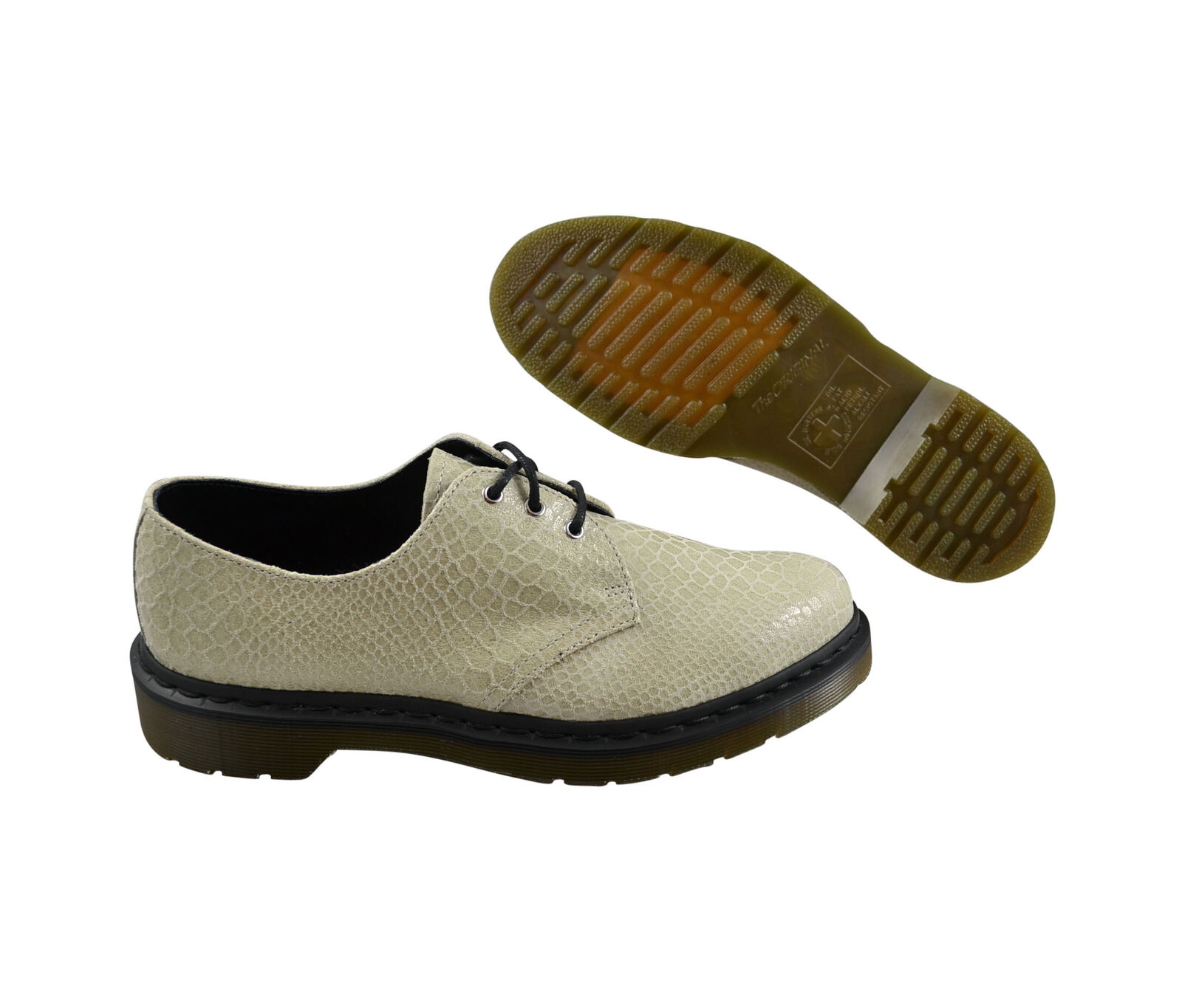 Dr. Martens Tahan off blancoo Hi Shine Snake 16171110 schnürzapatos zapatos