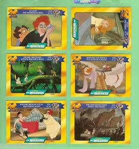 #D75.  DISNEY CLASSIC  STORY CARDS - THE  RESCUERS , CARDS 109  to 114