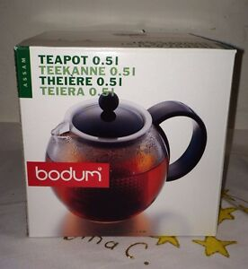 Bodum Teekanne bodum assam teapot 1842 tea press 0 5l 17 fl oz black made in