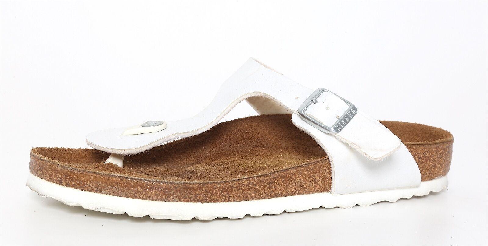 Birkenstock Gizeh Size White 245 Sandals 3247 Size Gizeh 38 EU L7 M5 dc4f0e