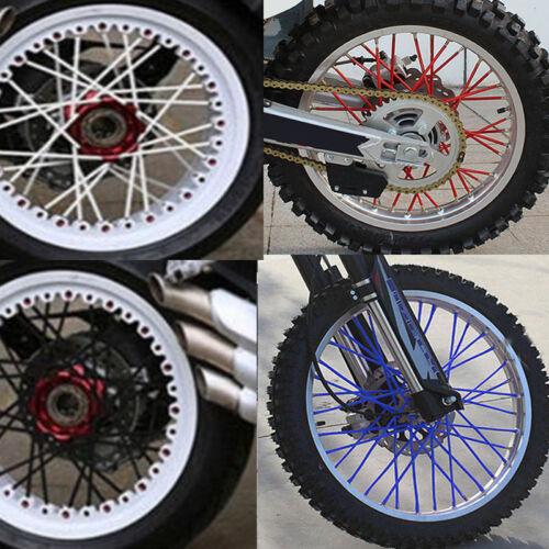 36pcs Wheel Spoke Wraps Kit Rims Skins Cover Guard Protector Motocross Dirt Bike