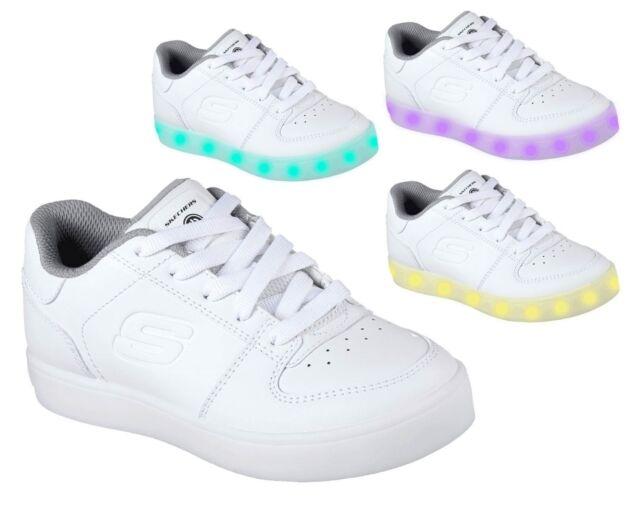 SKECHERS ENERGY LIGHTS ELATE 90601L scarpe donna bambina sportive sneakers  luci