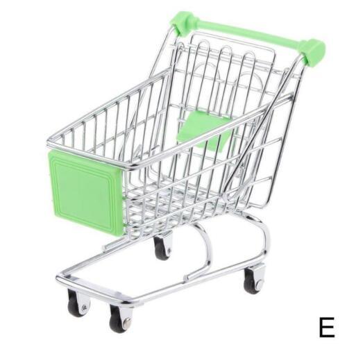 Kinder Rollenspiel Mini Metall Einkaufswagen /& Korb Supermarkt Handwagen