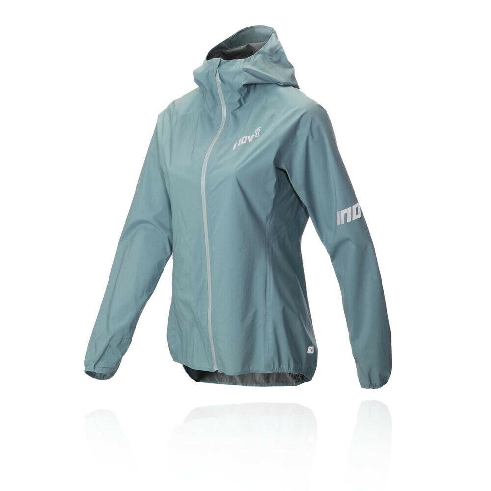 Inov8 daSie Stormshell Full Zip Laufen Jacket Top Blau Sport Draußen Hooded