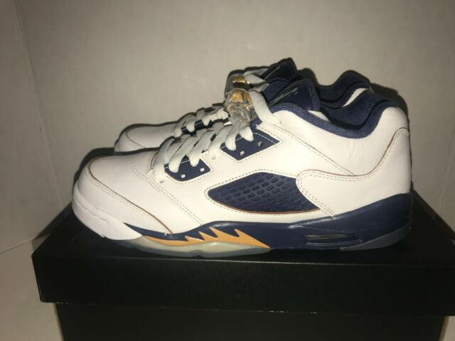 competitive price 318e6 cb6d0 Nike Air Jordan Retro 5 Low GS 6y Womens 7.5 White Gold Dunk From Above  314338