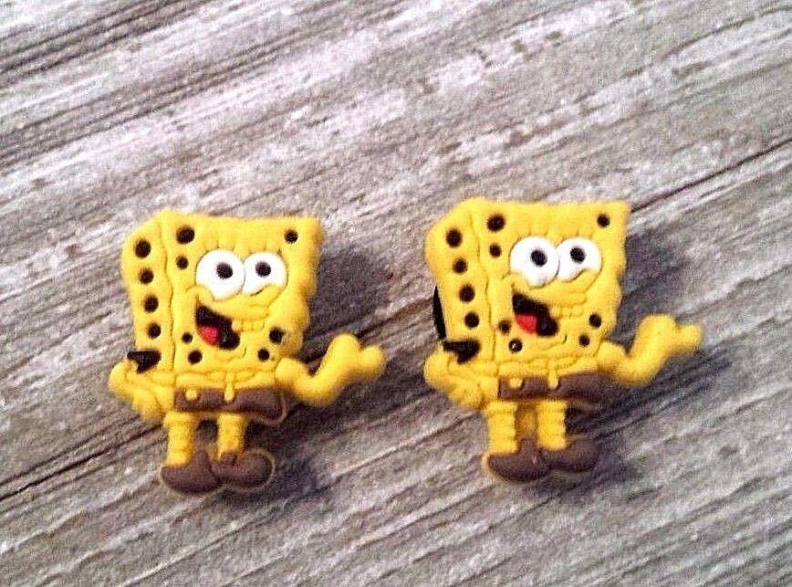 Spongebob Squarepants croc shoe charms (2)