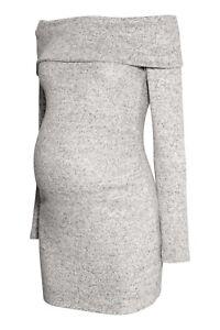 NEU-H-amp-M-Mama-Umstandspullover-Pullover-grau-Off-Shoulder-schulterfrei-GR-L-40-42
