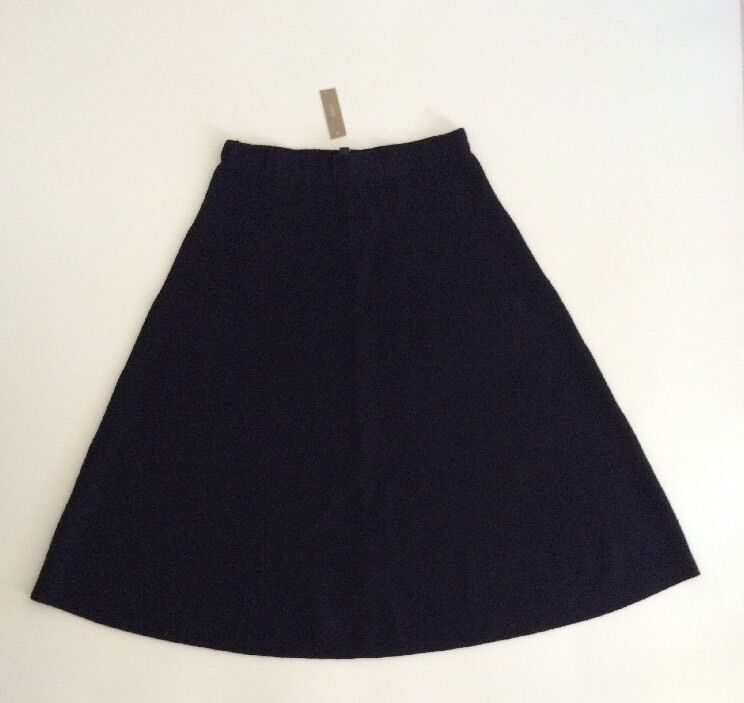 148 NWT JCREW Womens 12 Midi Sweater Skirt  Navy bluee E4349