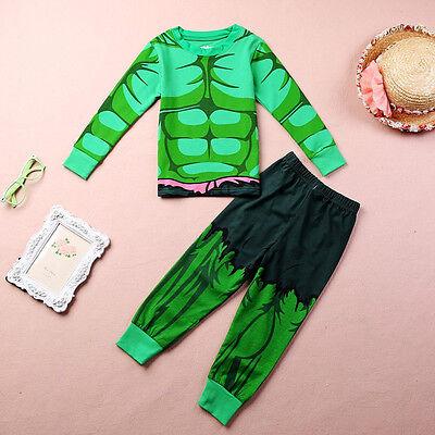The Incredible Hulk Costume Baby Kids Boys Homewear Sleepwear Pajamas set 1~7Y & The Incredible Hulk Costume Baby Kids Boys Homewear Sleepwear ...
