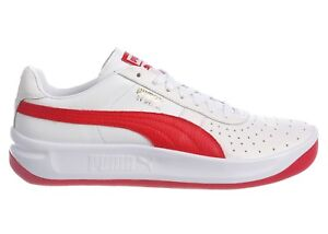 buy popular 8cc4c f1913 Details about Puma GV Special Mens 366613-07 White Ribbon Red Leather  Athletic Shoes Size 8