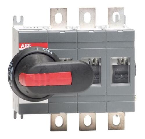 ABB 160 A 3 pôles isolant including 210 mm Shaft /& Black//Red Handle