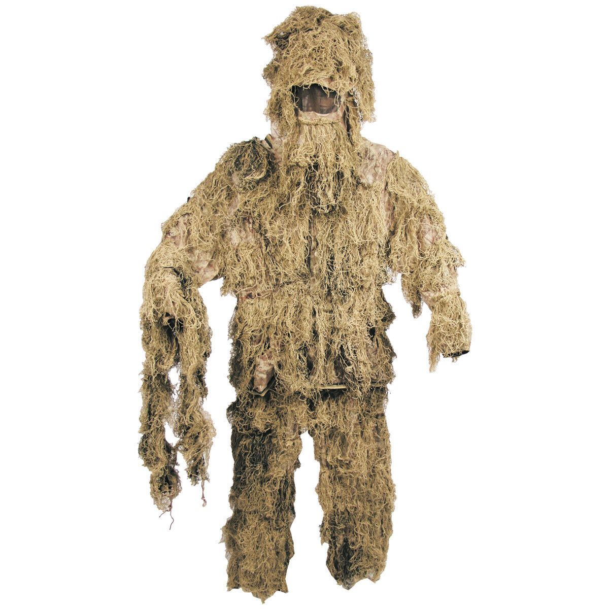 Ghillie Suit Camuflaje Camo Traje Ajustado Caza Pesca Avistamiento  Desierto De L  envio rapido a ti
