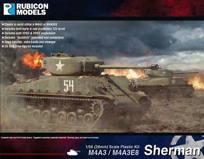 - Rubicon 280042 Sherman M4A3//M4A3E8 P3 1//56 scale 28mm