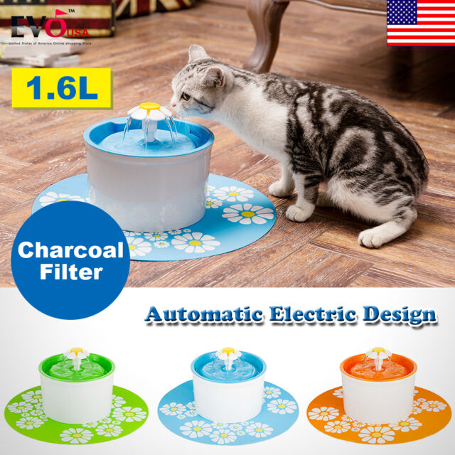 Flower Style Automatic Electric 1.6 L Pet Water Fountain Dog/Cat Drinking Bowl +