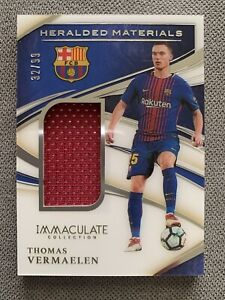 THOMAS VERMAELEN 2020 Panini Immaculate Soccer Heralded Materials MW Patch /99
