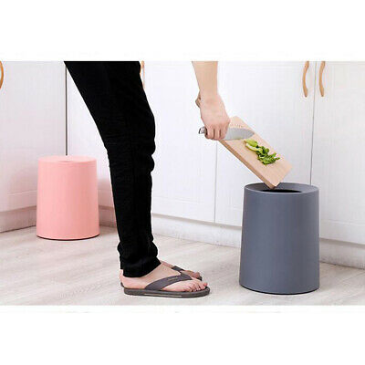 Trash Can Open Round Basket Home Office Waste Garbage Bin hide Bag