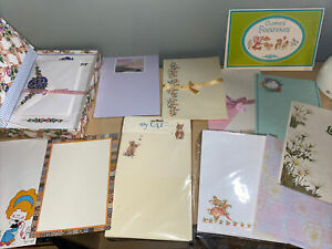 Vintage Mixed Lot Stationery- Letter Paper And Envelopes -Fold And Seal- Partial