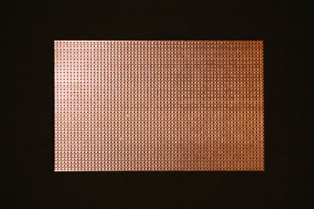 H25SR Lochrasterplatine streifenbeschichtet 160 x 100 mm