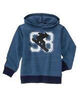 Gymboree Boys Ski Patrol Blue Snowboard Hoodie Shirt Raglan Top Boy Size 4