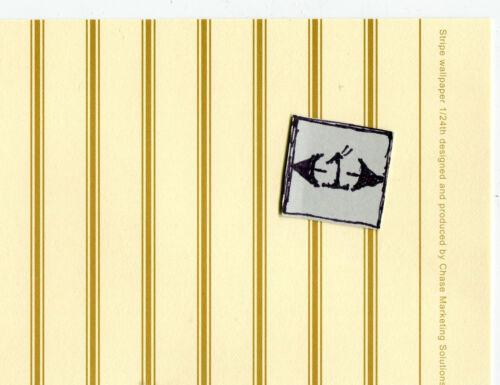 Half Scale Wallpaper Urn Gold Stripe JMS47 Jackson/'s Miniatures dollhouse 1//24