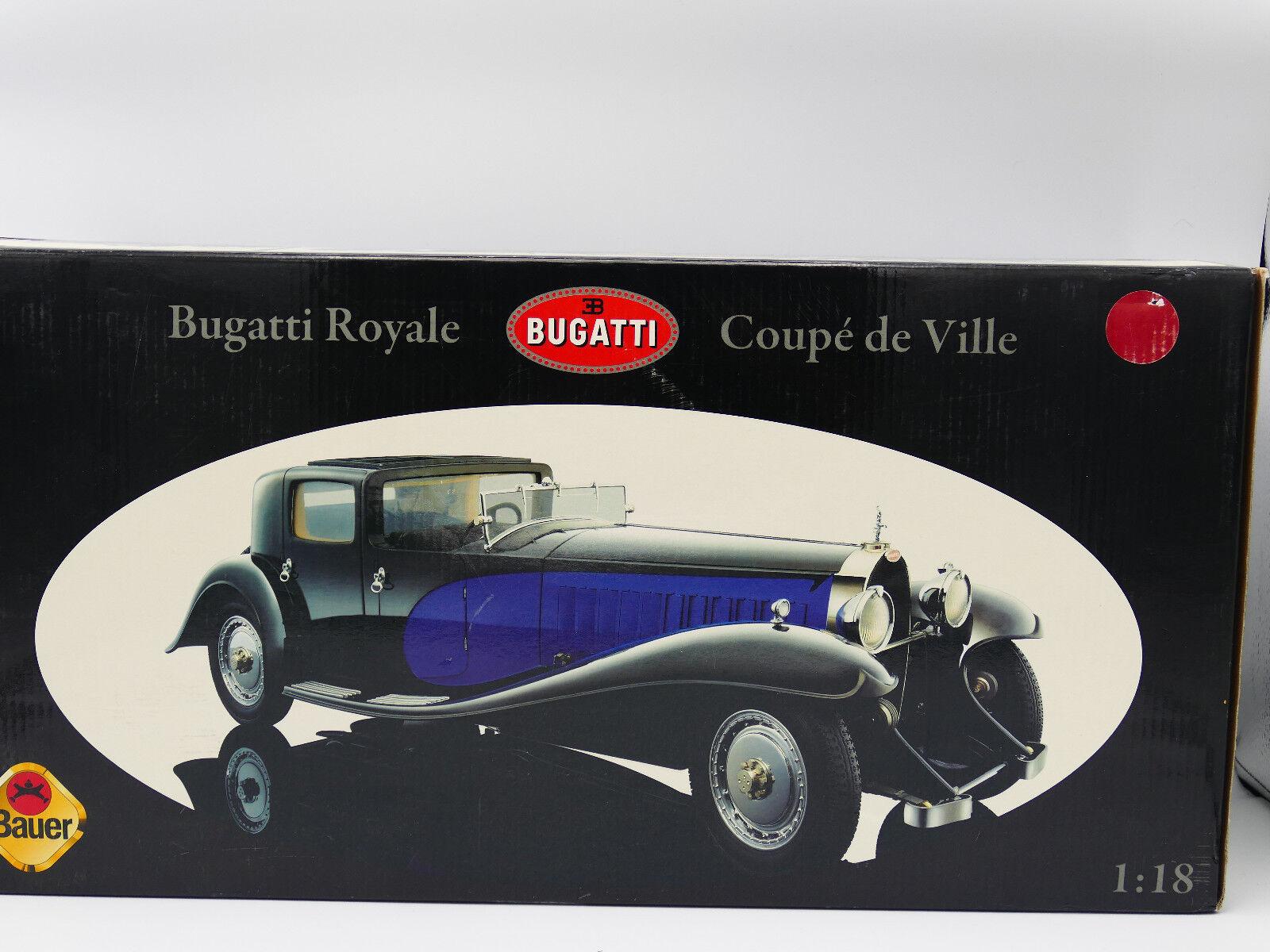 ventas directas de fábrica Bauer Bauer Bauer Bugatti Royale Coupe de Ville 1930 Negro y Azul-Nuevo  cómodamente