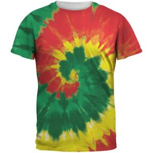 Rasta Stained Glass Tie Dye Sublimated Adult T-Shirt