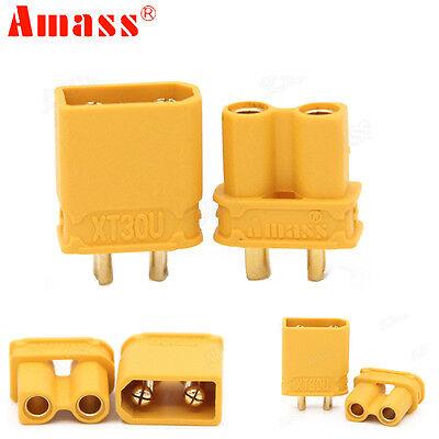 5pair Amass XT30U Anti-slip Power Connector 2MM Bullet Connectors Plugs
