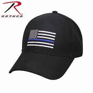 Buy Police Hat Baseball Cap Ballcap US Flag Thin Blue Line Rothco ... 79c10540331