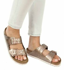 576413b63be Image is loading Birkenstock-Sandals-ARIZONA-Spectral-Copper-leather-narrow- Soft-