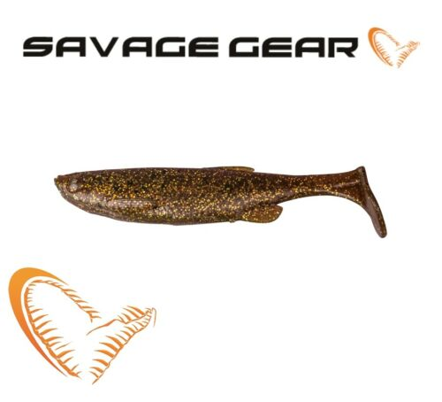 Savage Gear Fat T-Tail Minnow 3pcs Soft Plastic Bait Jig Head Lure Fishing Pike