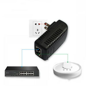 48V-0-5A-US-Wall-Plug-POE-Ethernet-Injector-Adapter-IP-Phone-Camera-Power-UAA