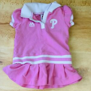 85312b83 Image is loading Philadelphia-Phillies-pink-dress-Girls-size-12-months