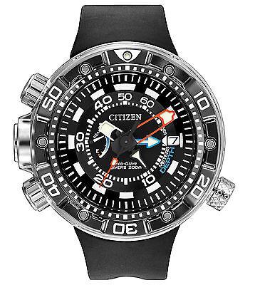 New Citizen Eco-Drive Promaster Aqualand Depth Meter Men's Watch BN2029-01E