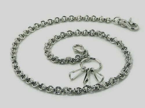 "Handemade Jean Metal Wallet Key Chain Wallet Chain 28/"" = 71cm S18"