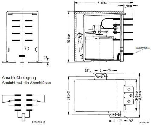 V23009-A0007-A051 SIEMENS RELAY 2PCO 10 A 250V 24 VDC NEW