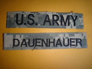 2 Us Armée Acu Poche Correctifs - AMÉRICAIN Armée+Dauenhauer Nom UOreJeGk-09110430-495402190