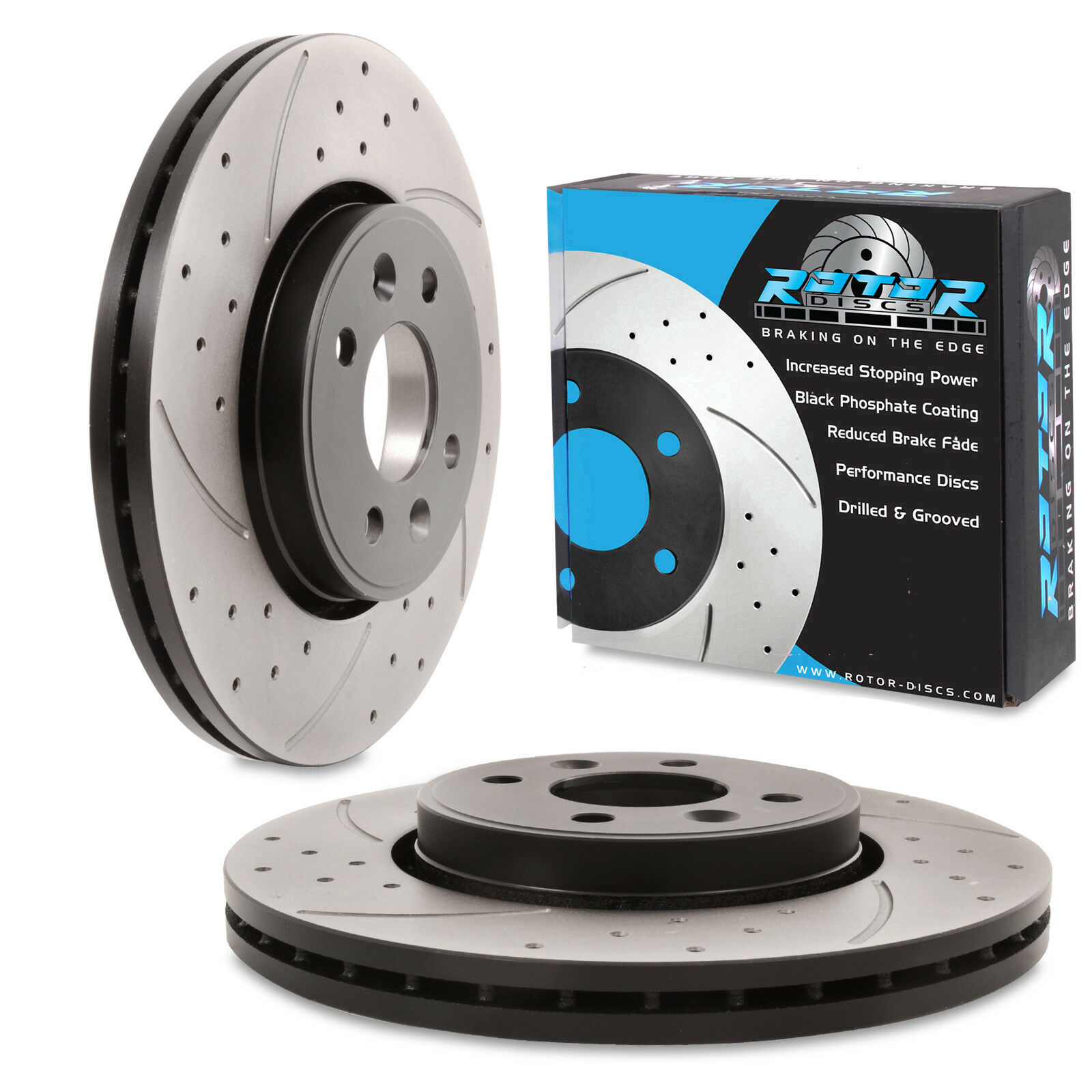 Renault Clio 1.5 dci Drilled /& Grooved Discs pads Front 05