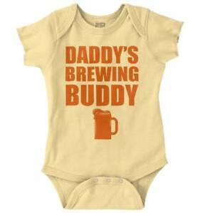 Rechercher Des Vols Daddys Brewing Buddy Fathers Day Shower Gift Newborn Romper Bodysuit For Babies Faire Sentir à La Facilité Et éNergique